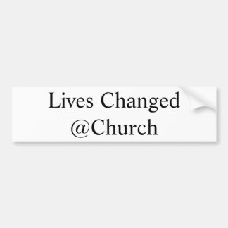 Autocollant De Voiture Les vies ont changé l'autocollant de @Church