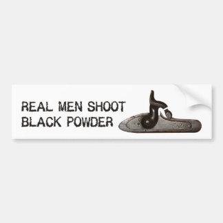 Autocollant De Voiture Les vrais hommes tirent la poudre noire, fusil de