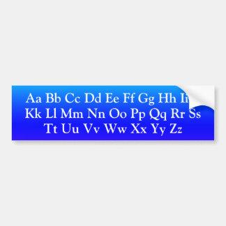 Autocollant De Voiture Lettres d'alphabet - majuscules et ABC minuscule