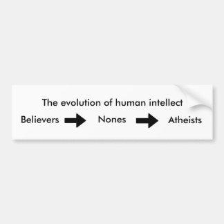 Autocollant De Voiture L'évolution de l'intellect humain