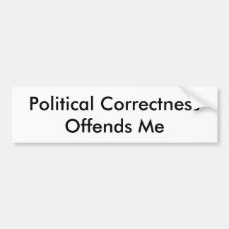 Autocollant De Voiture L'exactitude politique m'offense