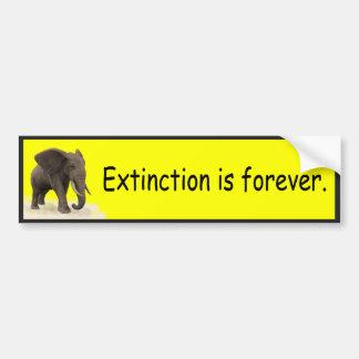 Autocollant De Voiture L'extinction est pour toujours - adhésif pour