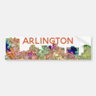Autocollant De Voiture L'horizon d'Arlington le Texas SG-S'est fané