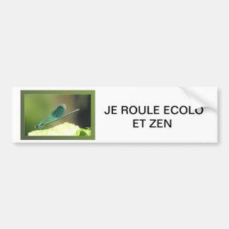 AUTOCOLLANT DE VOITURE LIBELLULE