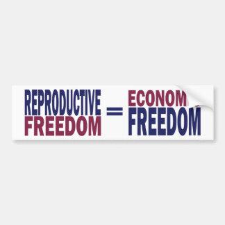 Autocollant De Voiture Liberté reproductrice