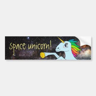 Autocollant De Voiture Licorne de l'espace !