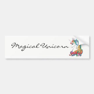 Autocollant De Voiture Licorne mignonne d'arc-en-ciel d'aquarelle