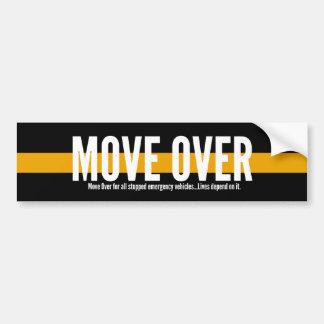 Autocollant De Voiture Ligne jaune mince mouvement au-dessus d'adhésif