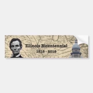 Autocollant De Voiture L'Illinois historique bicentenaire