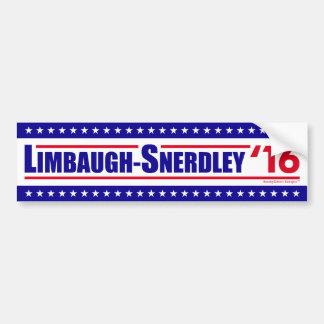 Autocollant De Voiture Limbaugh-Snerdley pour le président 2016