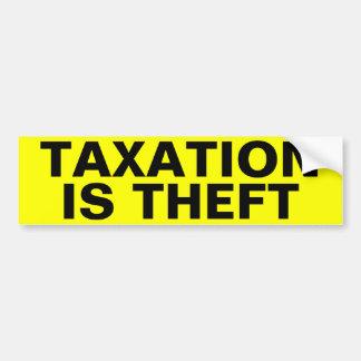 Autocollant De Voiture L'imposition est vol