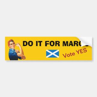 Autocollant De Voiture L'indépendance d'écossais d'hommage de Margo
