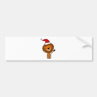 Autocollant De Voiture Lion mignon dans la bande dessinée de Noël de