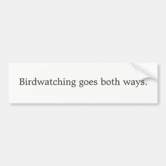 Autocollant De Voiture L'observation des oiseaux va de deux manières
