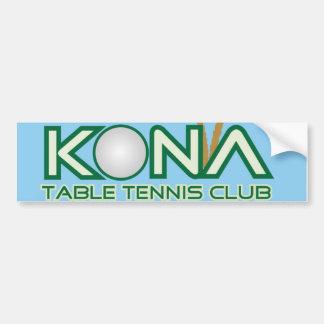 Autocollant De Voiture Logo de club de ping-pong de Kona
