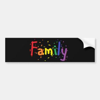 Autocollant De Voiture Logo de famille de LGBT