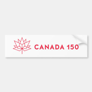 Autocollant De Voiture Logo de fonctionnaire du Canada 150 - contour