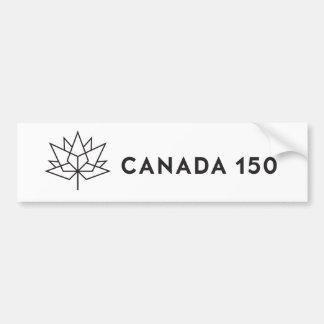 Autocollant De Voiture Logo de fonctionnaire du Canada 150 - contour noir