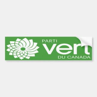 Autocollant De Voiture Logo de Parti Vert du Canada