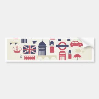Autocollant De Voiture Londres au coeur