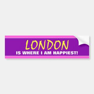 """Autocollant De Voiture """"LONDRES EST OÙ JE SUIS LE PLUS HEUREUX !"""" (Le"""