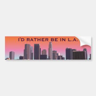 Autocollant De Voiture Los Angeles du centre - image personnalisable