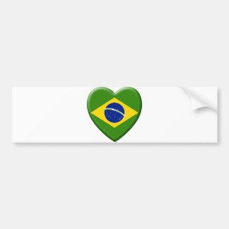 Autocollant De Voiture Love Brésil