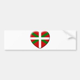 Autocollant De Voiture love drapeau pays Basque
