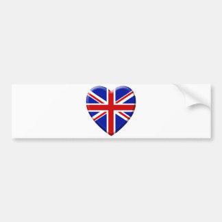 Autocollant De Voiture love drapeau Royaume-uni Angleterre