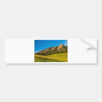 Autocollant De Voiture Lumière d'or de lever de soleil de Boulder le