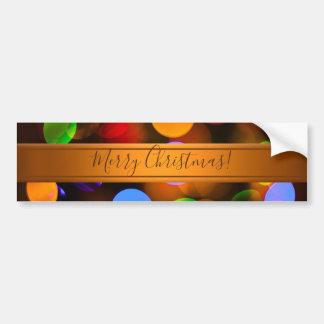 Autocollant De Voiture Lumières de Noël multicolores. Ajoutez le texte ou