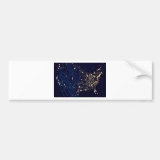 Autocollant De Voiture Lumières de ville des Etats-Unis