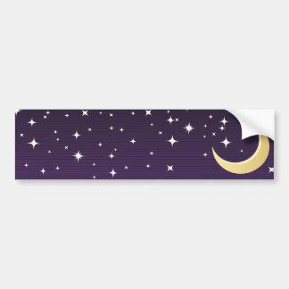 Autocollant De Voiture Lune étoilée