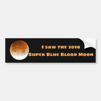 Autocollant De Voiture Lune superbe 2018 de sang bleu