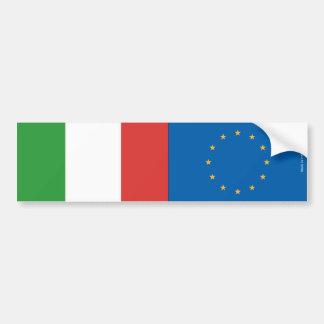Autocollant De Voiture L'Union italienne et européenne marque l'adhésif