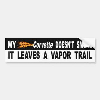 Autocollant De Voiture Ma Corvette ne le fume pas laisse une traînée de
