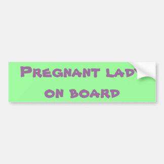 Autocollant De Voiture Madame enceinte à bord