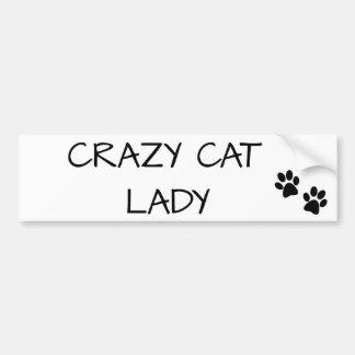 Autocollant De Voiture Madame folle de chat