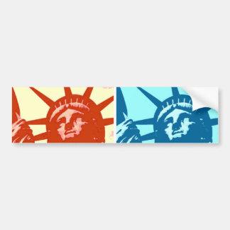 Autocollant De Voiture Madame Liberty New York City d'art de bruit