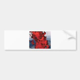 Autocollant De Voiture magma rouge lumineux