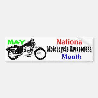 Autocollant De Voiture Mai - mois national de conscience de moto