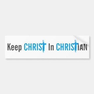 Autocollant De Voiture Maintenez le Christ dans l'adhésif pour pare-chocs