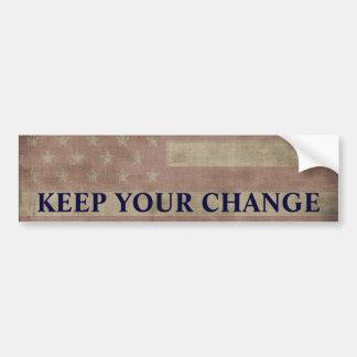 Autocollant De Voiture Maintenez votre changement politique