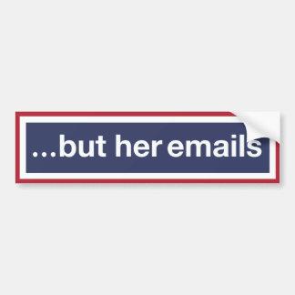 Autocollant De Voiture … mais ses emails