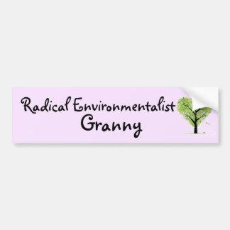 Autocollant De Voiture Mamie radicale d'écologiste