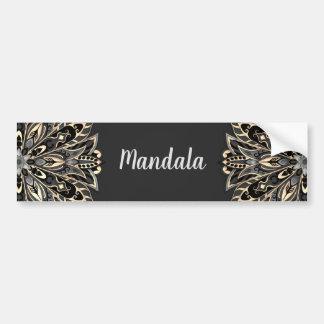 Autocollant De Voiture Mandala noir et brun géométrique tribal