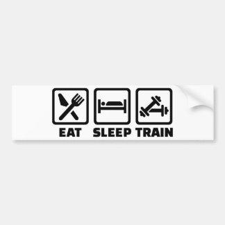 Autocollant De Voiture Mangez le culturisme de train de sommeil