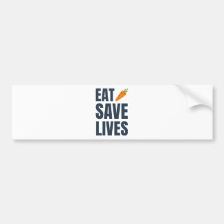 Autocollant De Voiture Mangez le végétalien - les vies d'économies