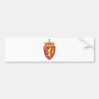 Autocollant De Voiture Manteau de la Norvège des bras