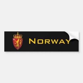 Autocollant De Voiture Manteau des bras norvégien
